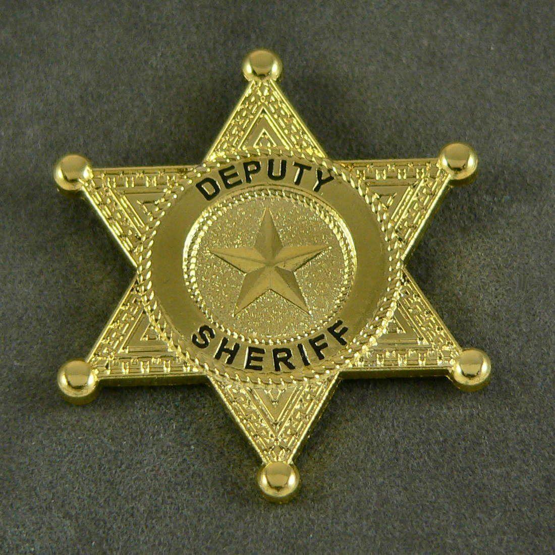 Deputy Sheriff 6 Point Star Mini Badge Lapel Pin Police Badge Badge Mens Wedding Attire
