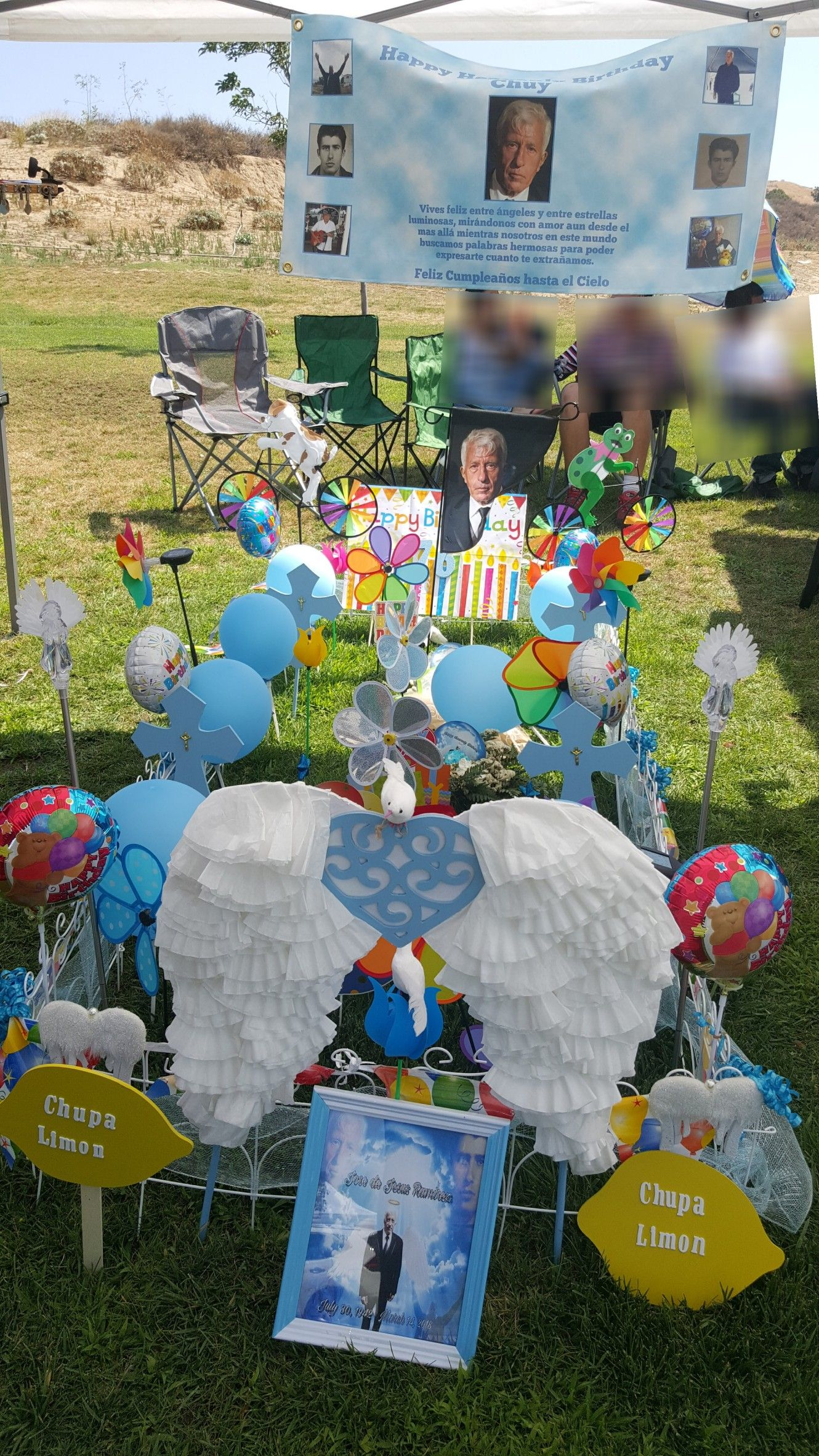 Dads 76th Heavenly Birthday 2018 Grave Decorations