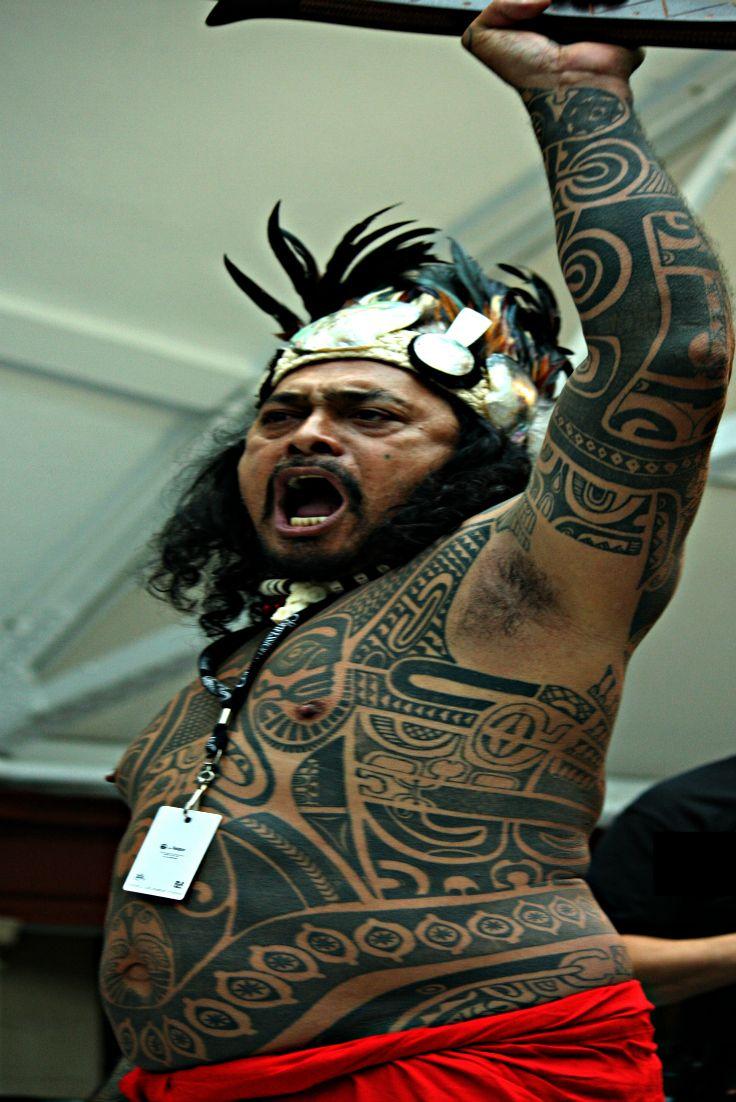 Maori Warrior Tattoo: Our Tahitian Warrior Tattooed © M. Jarry