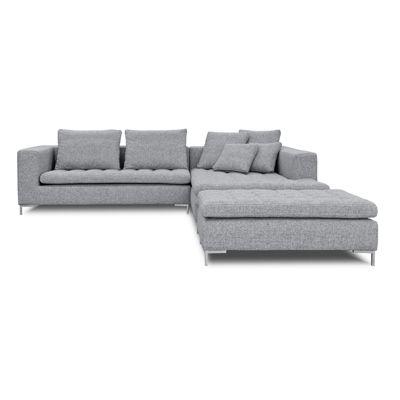 Sofas Veneto Sofa L Stoff Hellgrau Avandeo Mobel Online Shop