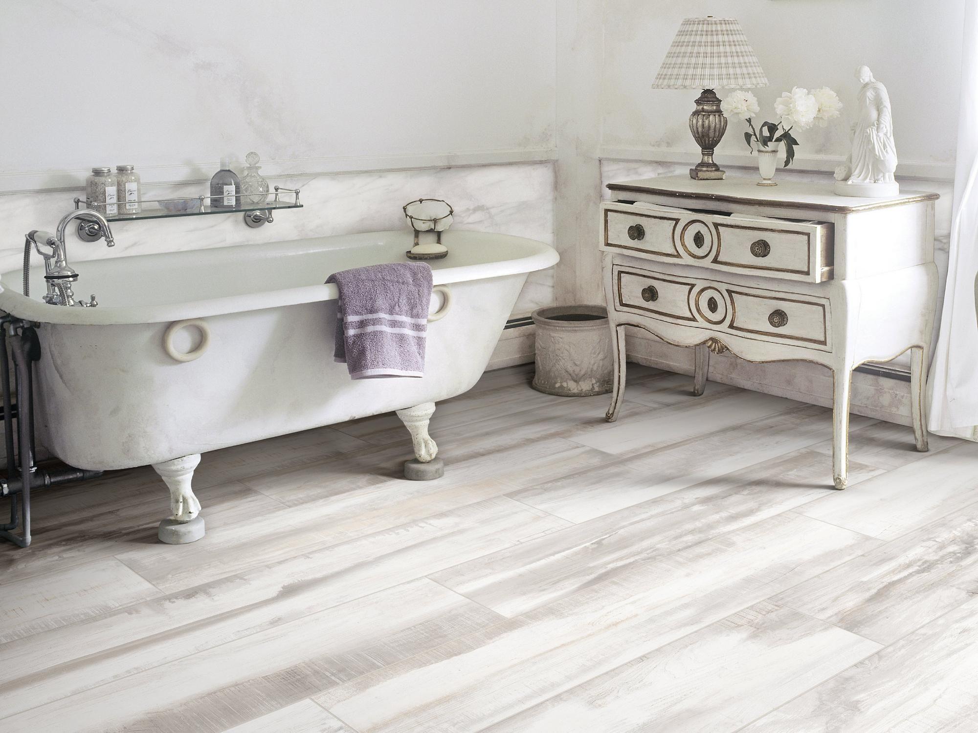 Marthas Vineyard Cottage White Wood Plank Porcelain Tile - 8 x 48 ...