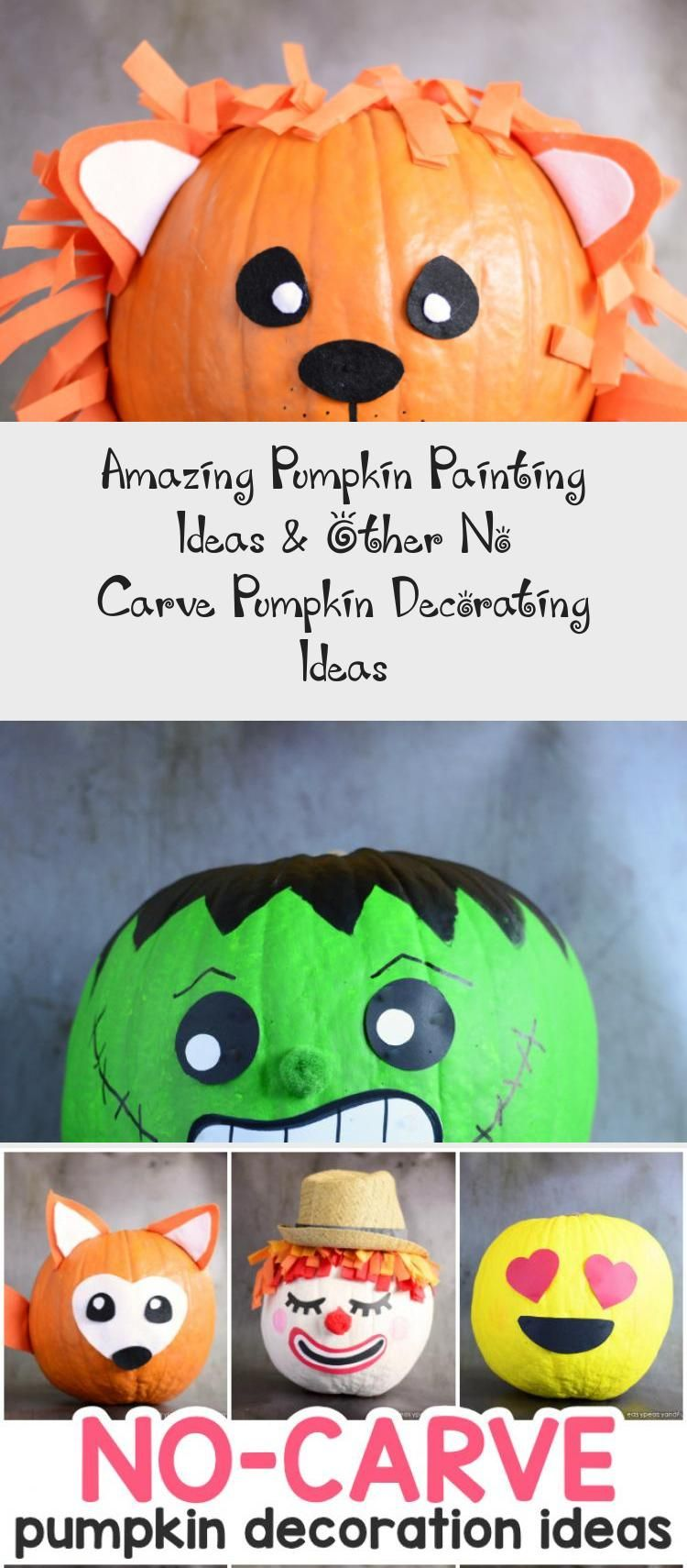Amazing Pumpkin Painting Ideas & Other No Carve Pumpkin Decorating Ideas #Modernpaintingideas #Christmaspaintingideas #paintingideasForKids #paintingideasOnWood #Glasspaintingideas #pumpkinpaintingideas