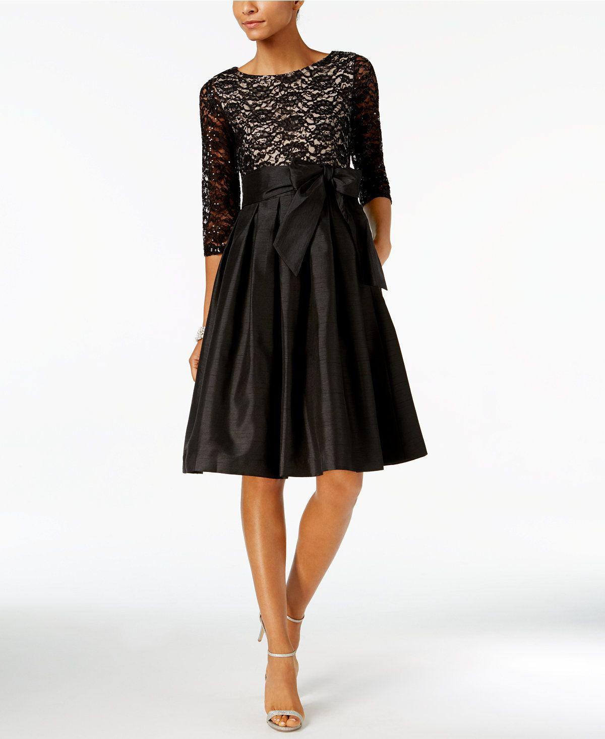 4a02713eac1 Jessica Howard Sequined Lace Fit   Flare Dress - Dresses - Women - Macy s