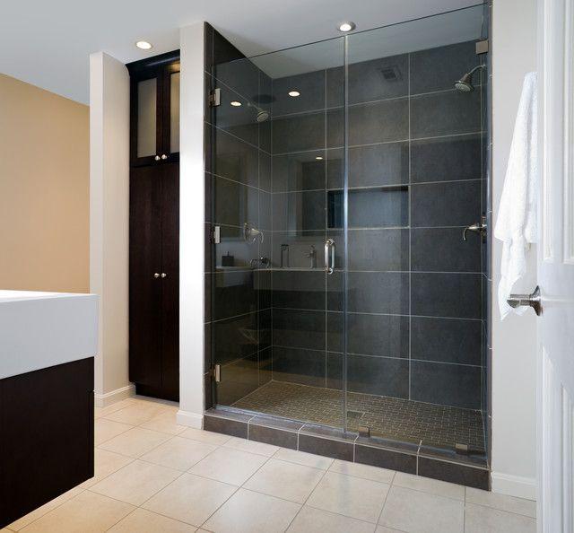 Modernes Bad Mit Dusche - Badezimmermöbel Modernes Badezimmer Mit ...