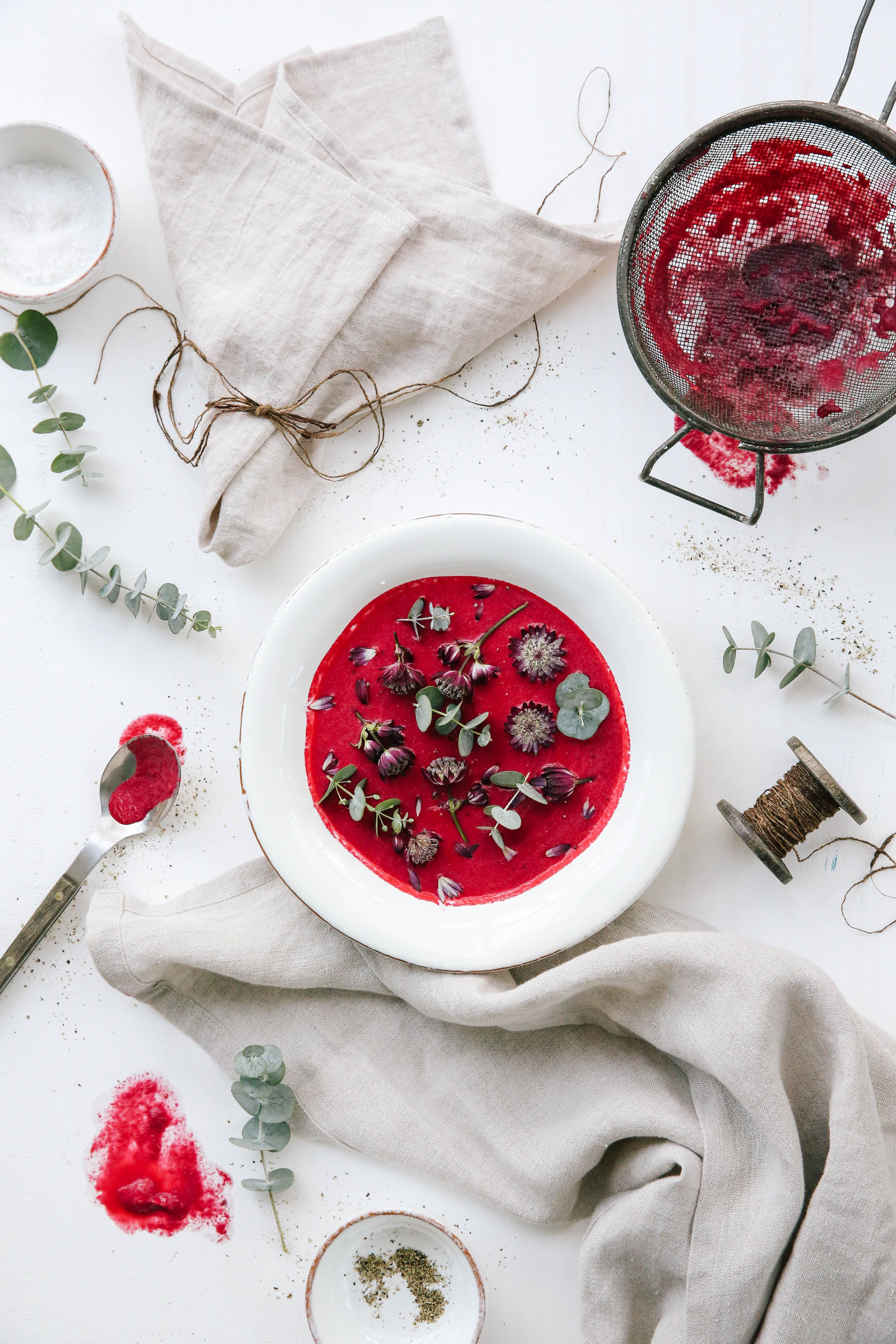 Gourmet Beetroot Soup Beetroot Soup Beetroot Food Styling
