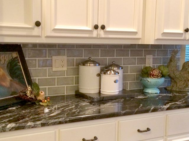 Backsplash Highland Park Dove Gray 3x6 Tile Backsplash