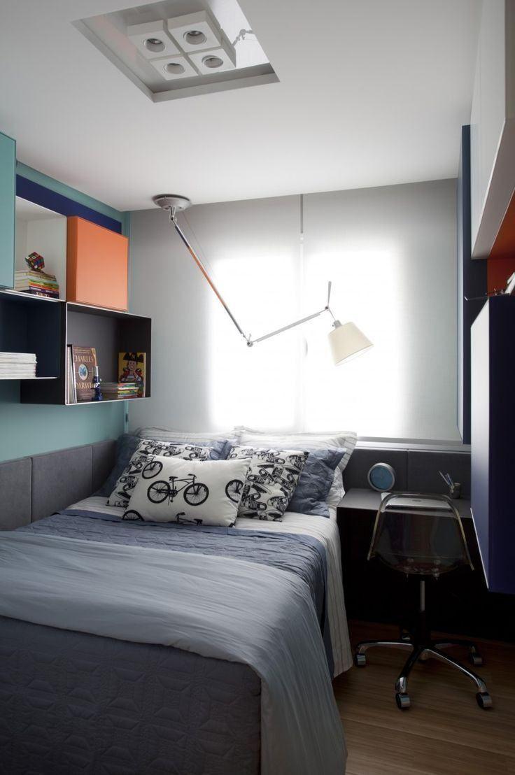 Quarto Colorido 170 Fotos E Inspira Es Incr Veis Quartos  ~ Quarto De Arquiteto Estudante E Decoração Quarto Colorido