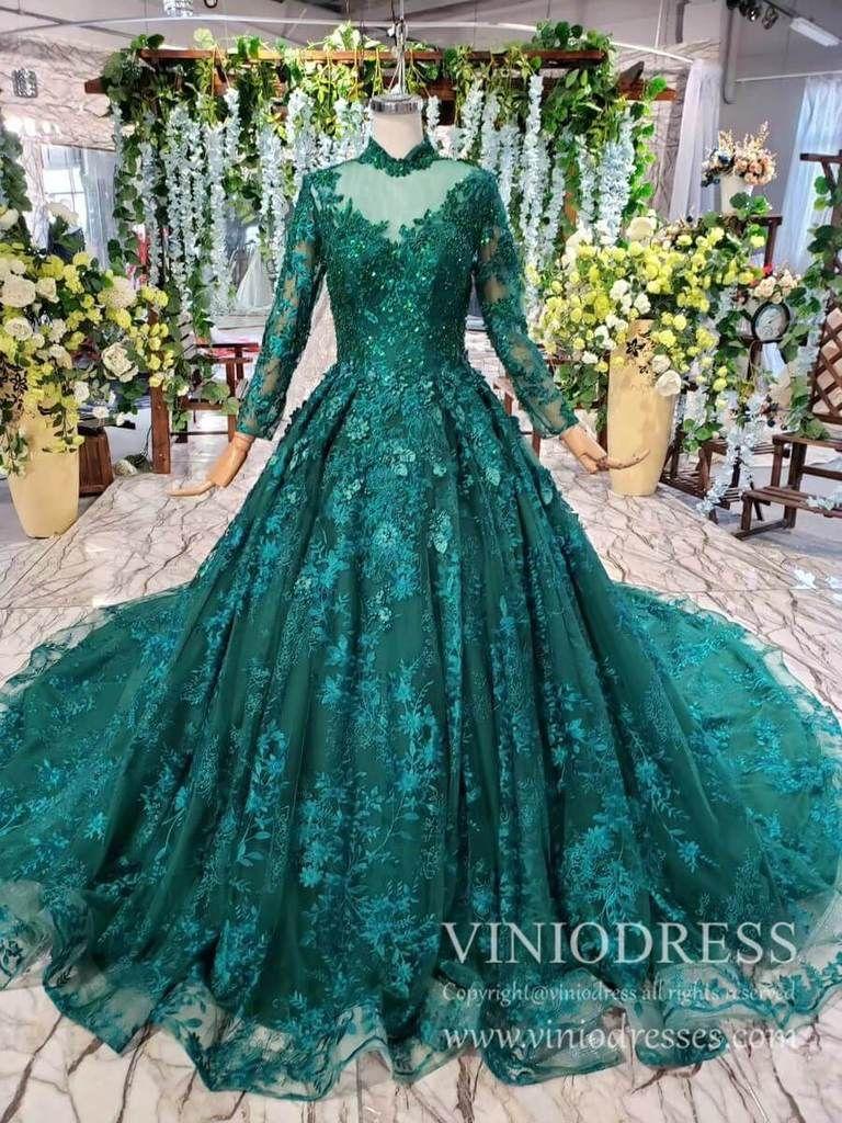 Long Sleeve Vintage Emerald Green Prom Dresses Luxury Debut Dress Fd1876 In 2021 Green Prom Dress Emerald Green Prom Dress Prom Dresses Vintage [ 1024 x 768 Pixel ]