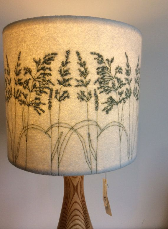 Embroidered Grass Lampshade *SECOND*