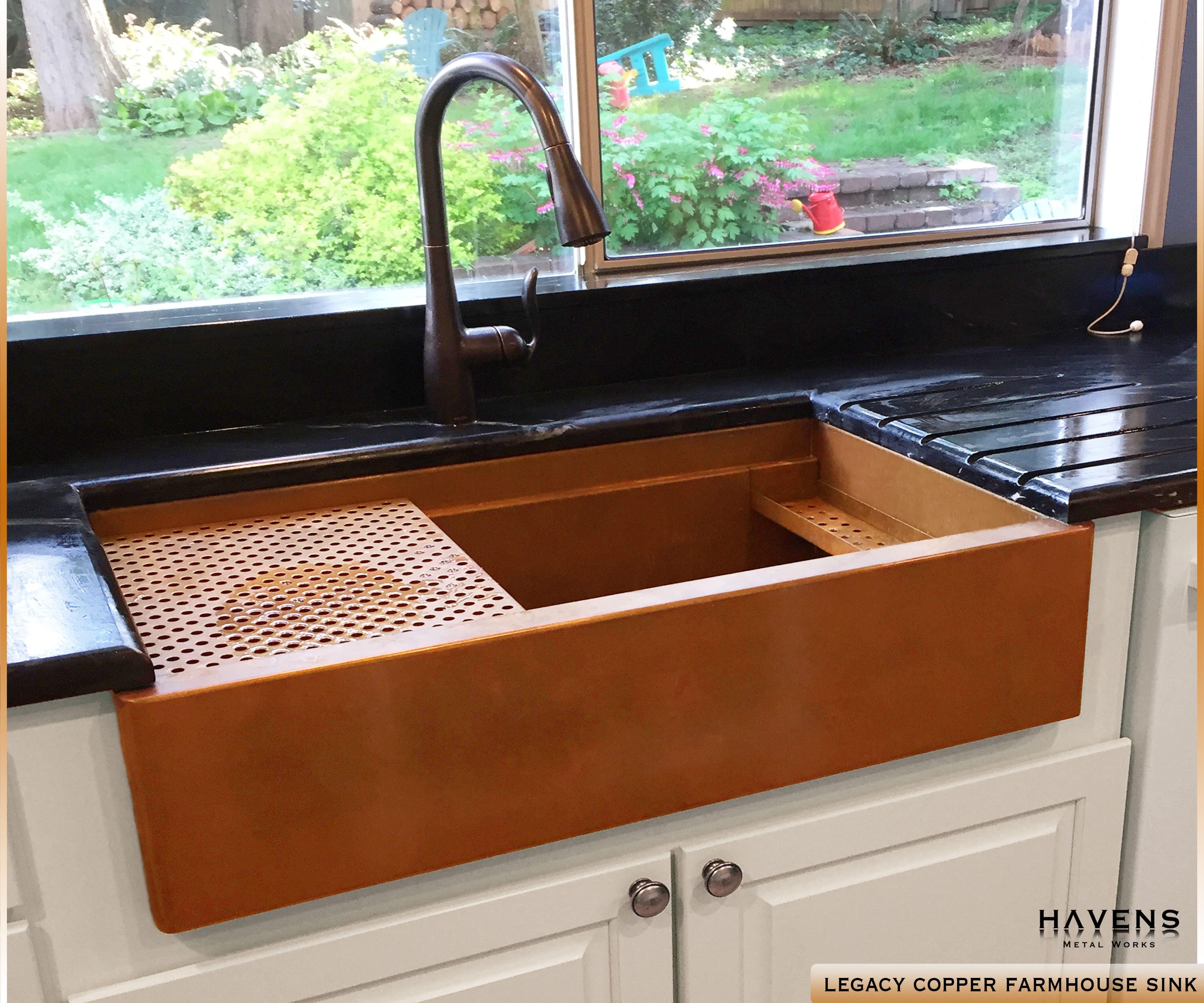 Legacy Copper Farmhouse Sink In 2020 Copper Farmhouse Sinks