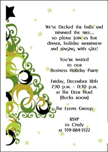 Corporate Christmas Party Ideas and Company Christmas Invitations - free xmas invitations
