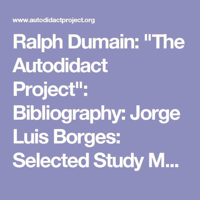 Jorge luis borges autobiographical essay