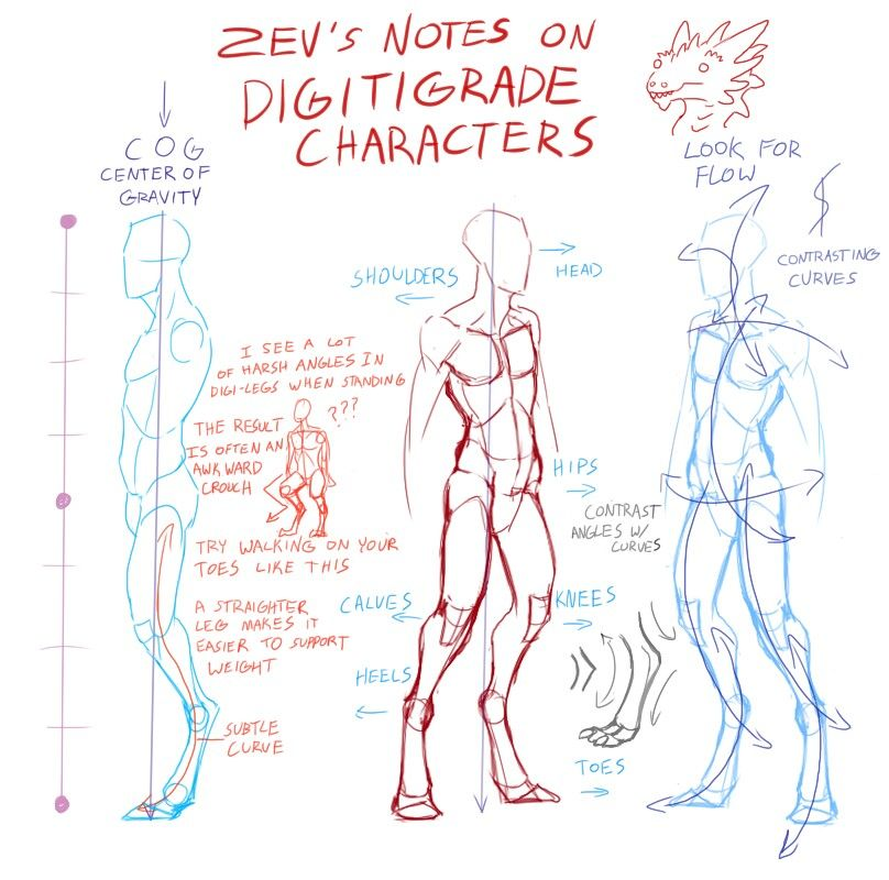 Digitigrade character | Drawing Demos | Pinterest | Zeichnen ...