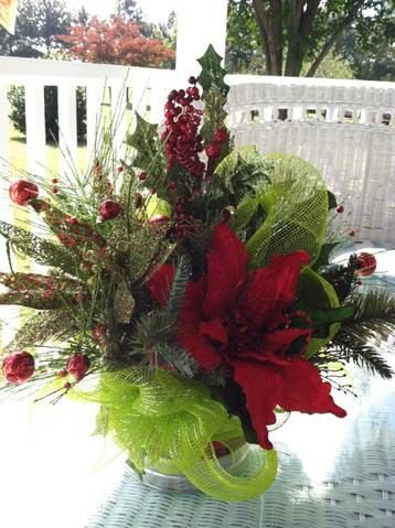 Contemporary Whimsical Poinsettia Christmas by ...