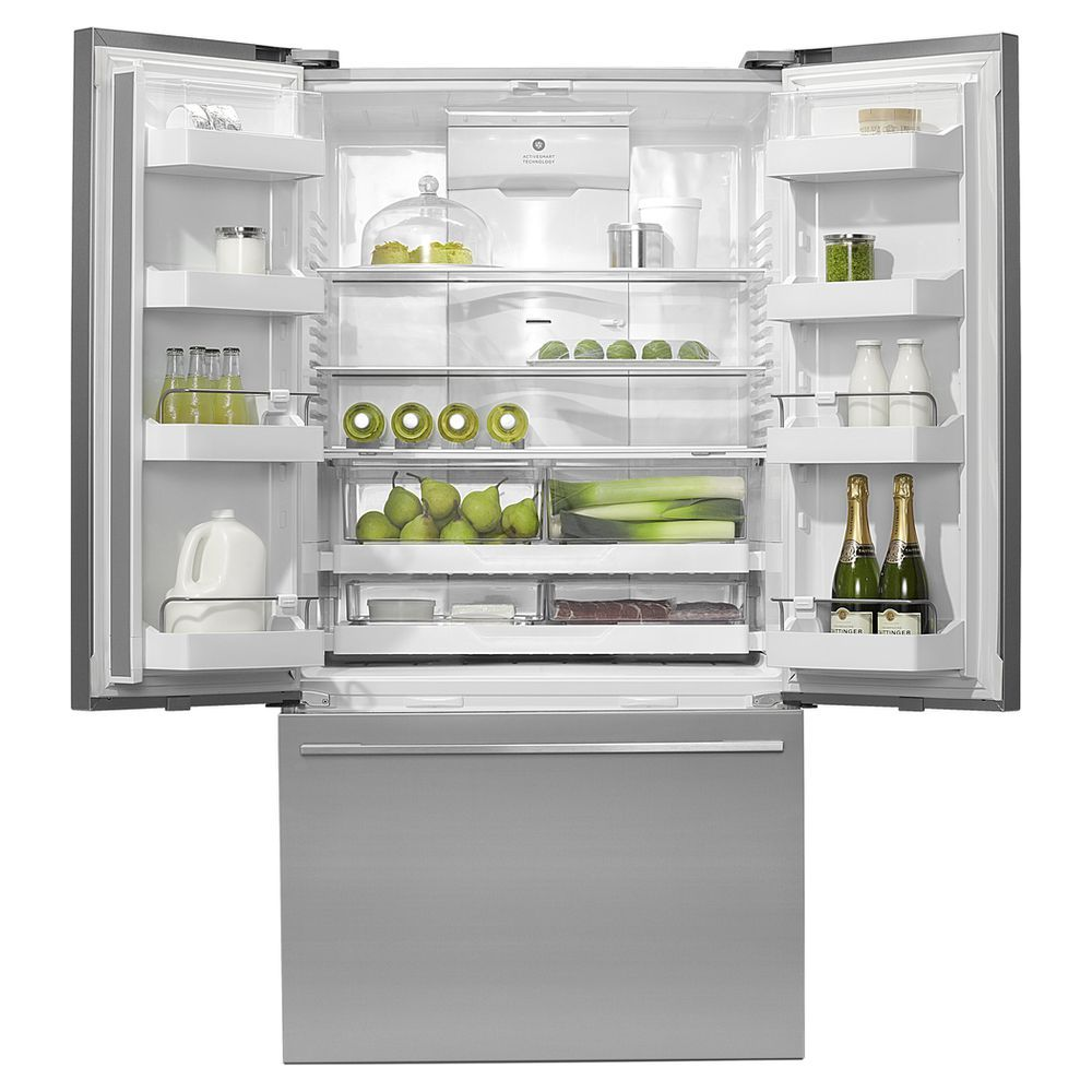 Fisher Paykel French Door Refrigerator Stainless Steel 614l Rf610adusx4 American Style Fridge Freezer Fridge French Door French Door Refrigerator