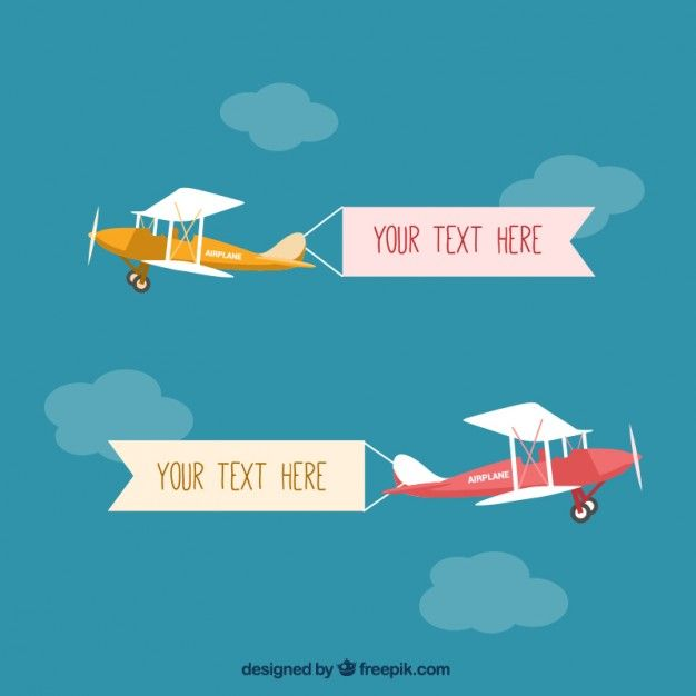 Download Light Airplane With Banners For Free Best Banner Design Vector Free Best Banner