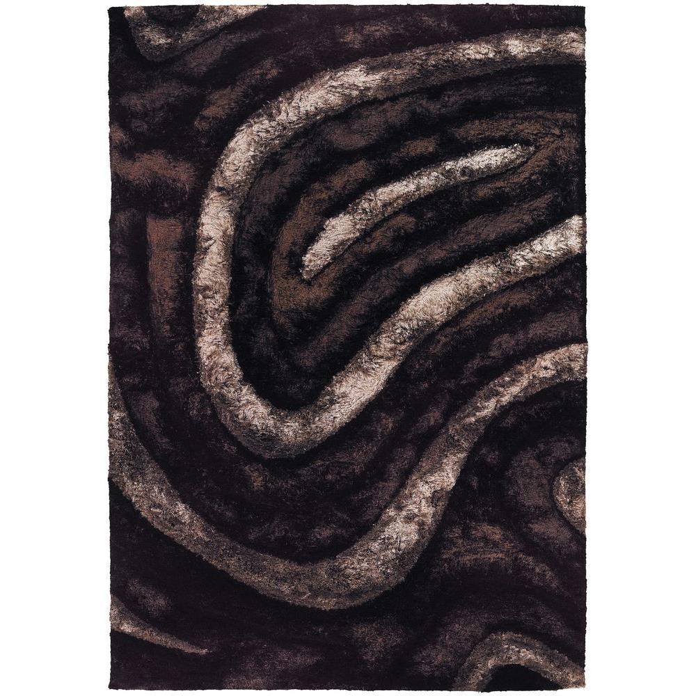 Chandra Flemish Brown/Beige/Black 5 ft. x 8 ft. Indoor