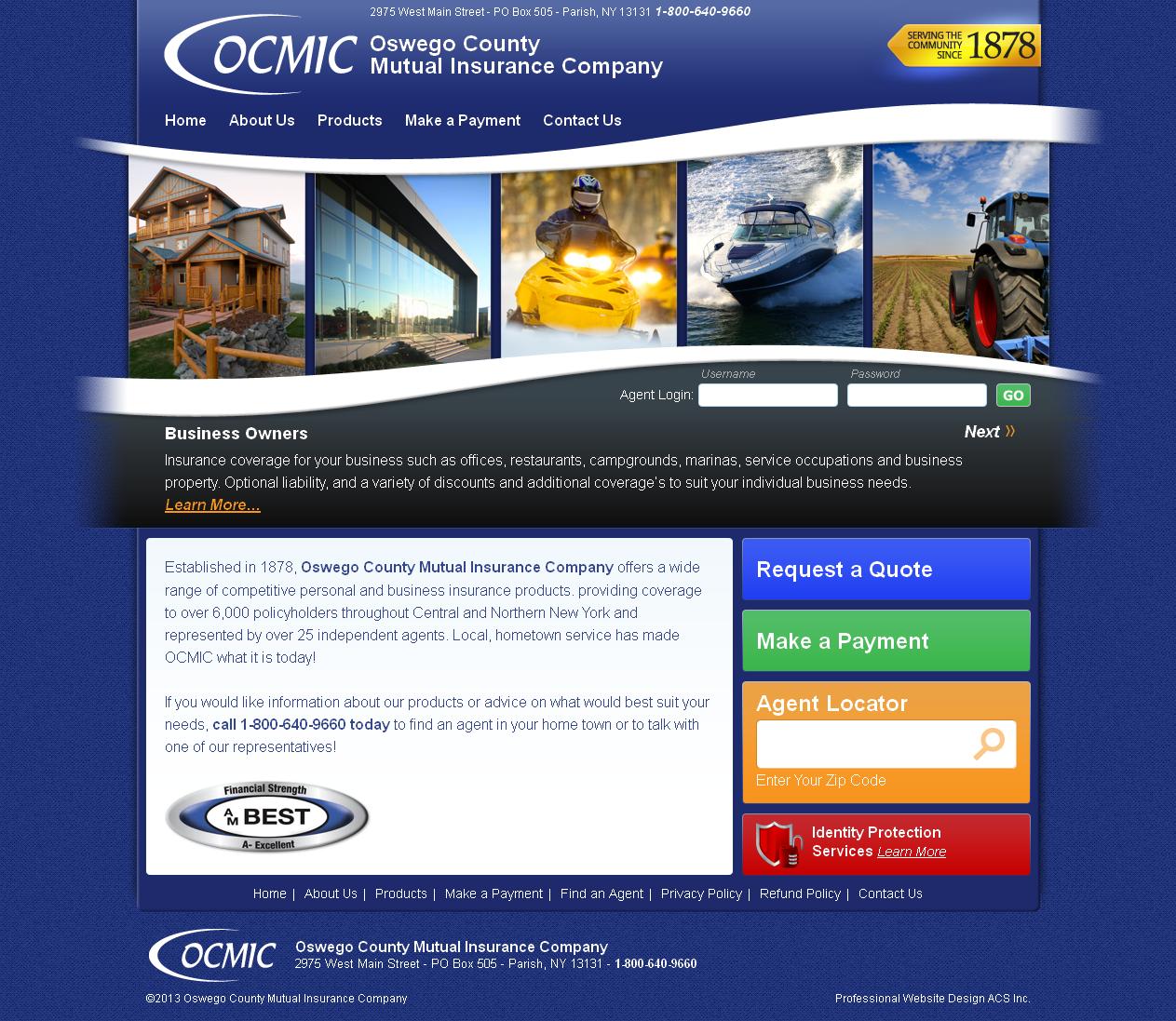 Insurance Website Design January 2012 Designed By Acs Www Acs Web Com Www Ocmic Com Insurance Website Website Design Insurance