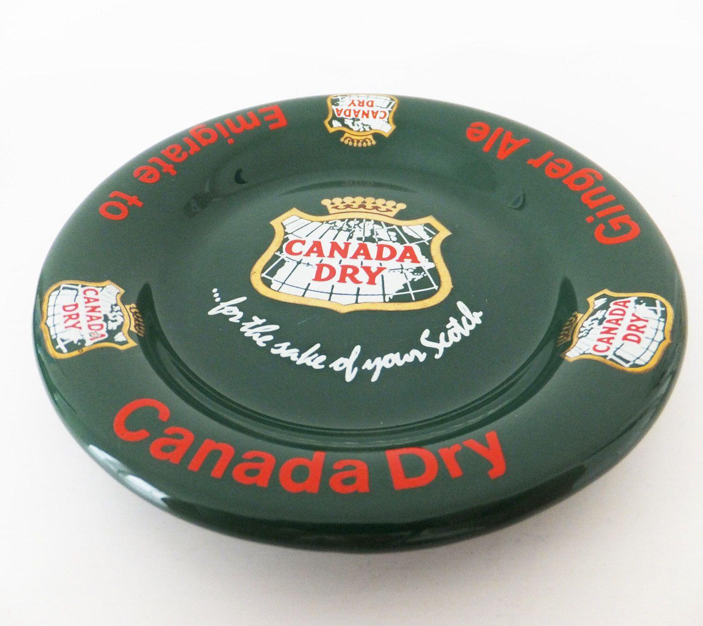 Vintage Canada Dry Pub Ashtray, Vintage Barware, Canada Dry Bowl, Pub  Memorabilia,