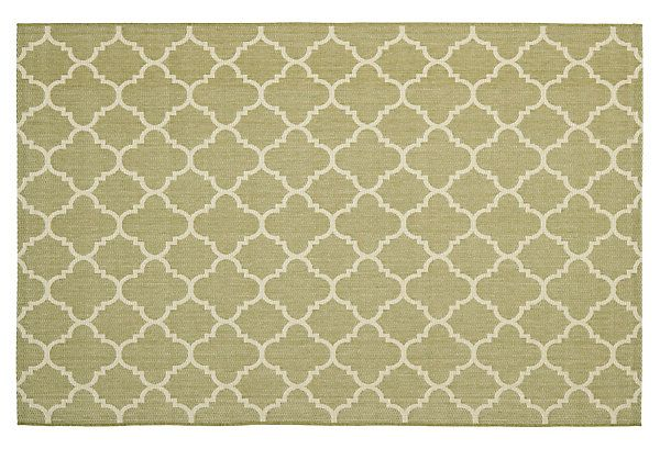 One Kings Lane Style That Lasts Vale Outdoor Rug Green Beige