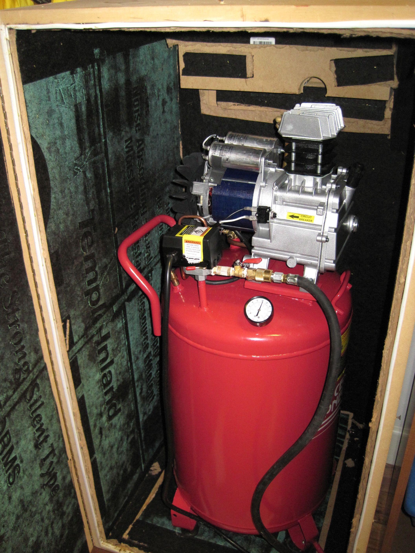 Sound dampening enclosure for air compressor | Garage | Pinterest ...