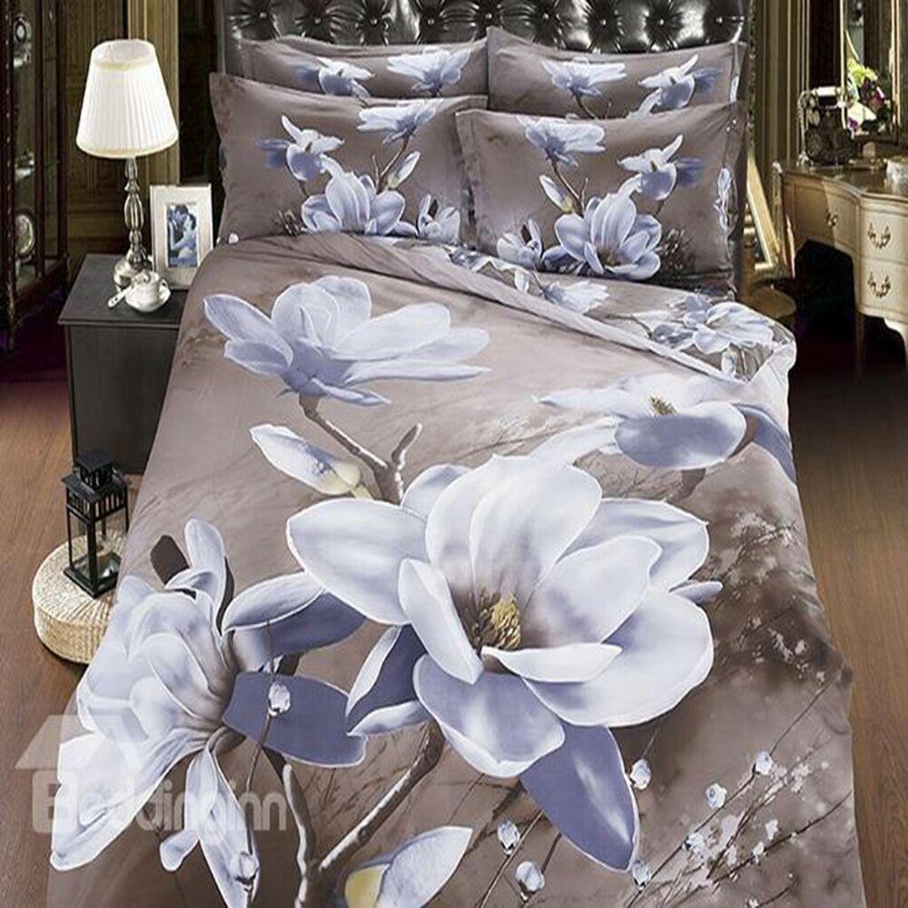eBay Sponsored Floral Duvet Quilt Cover Set Magnolia