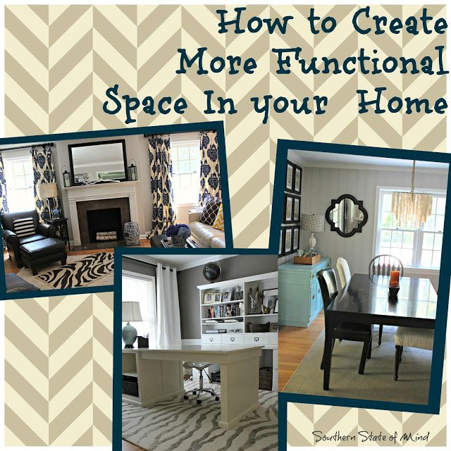 How To Create More Functional Space In Your Home Dining Room Turned Office