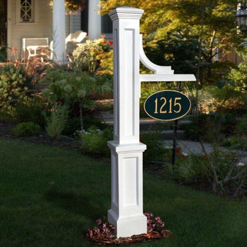 House Numberailboxes Ideas On, Lamp Post Address Sign