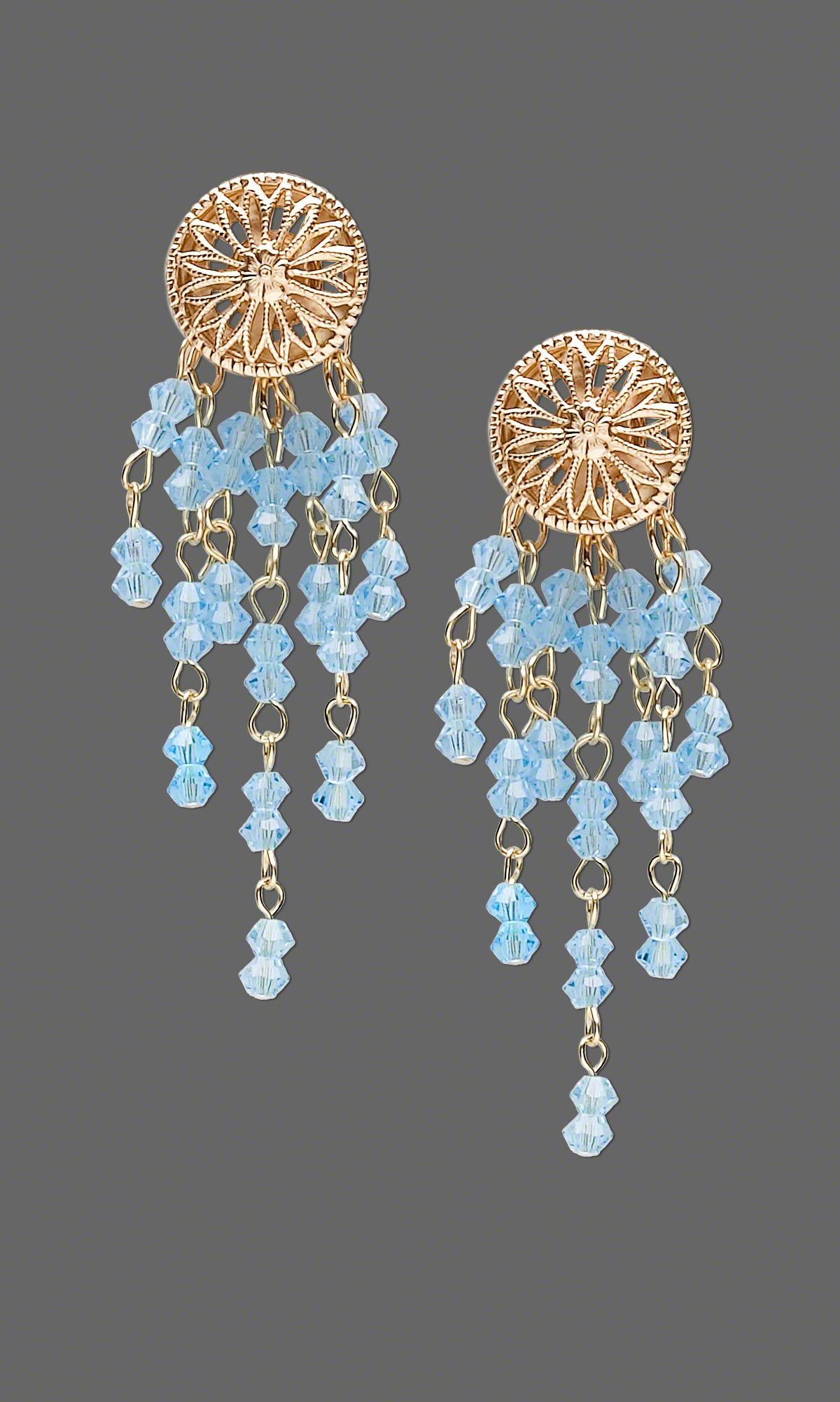 Jewelry Design - Earrings with Swarovski Crystal Beads and Gold Bead Components - Fire Mountain Gems and Beads