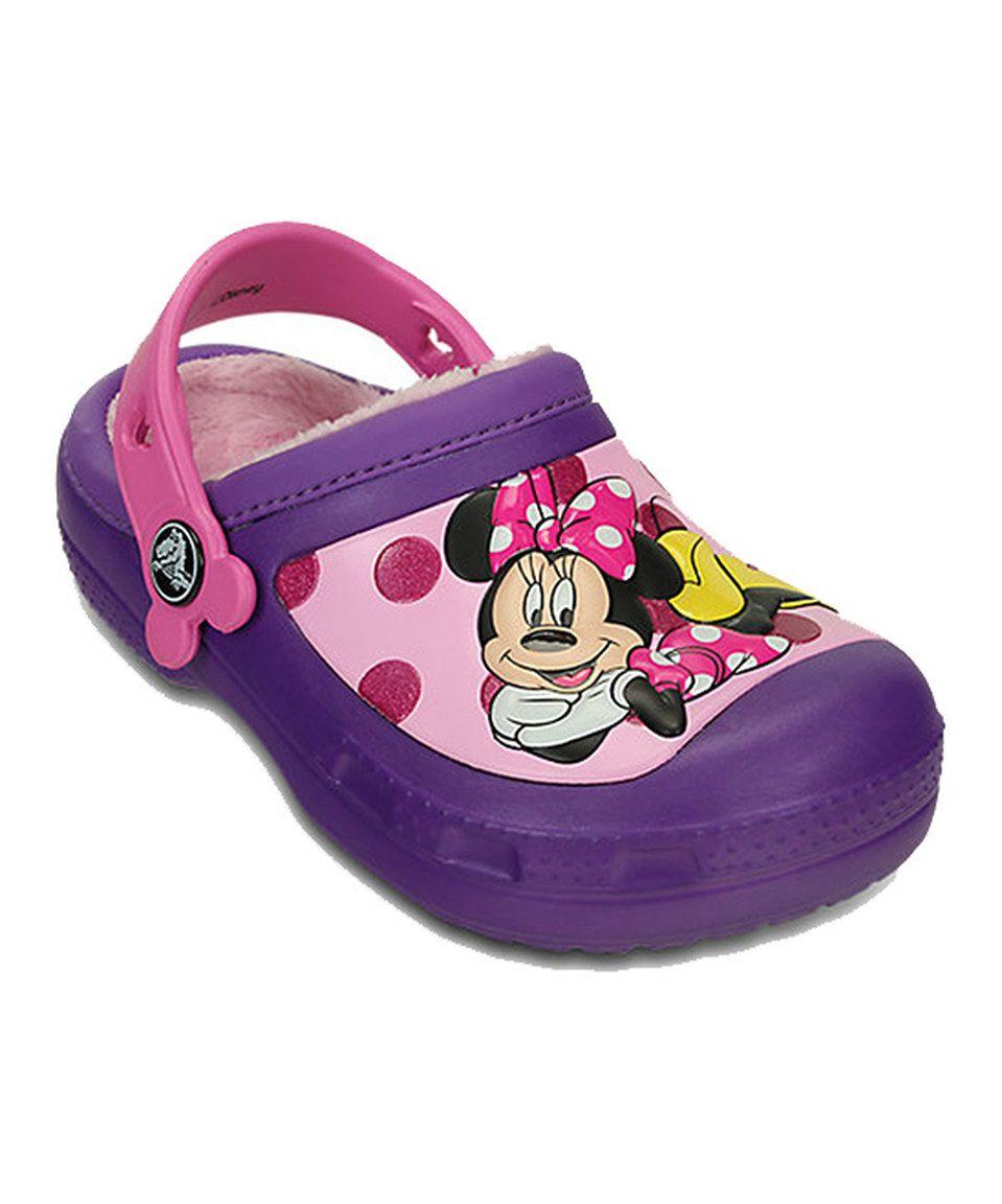 3f2d0ef00 Another great find on #zulily! Crocs Neon Purple Glitter Minnie Clog - Kids  by Crocs #zulilyfinds