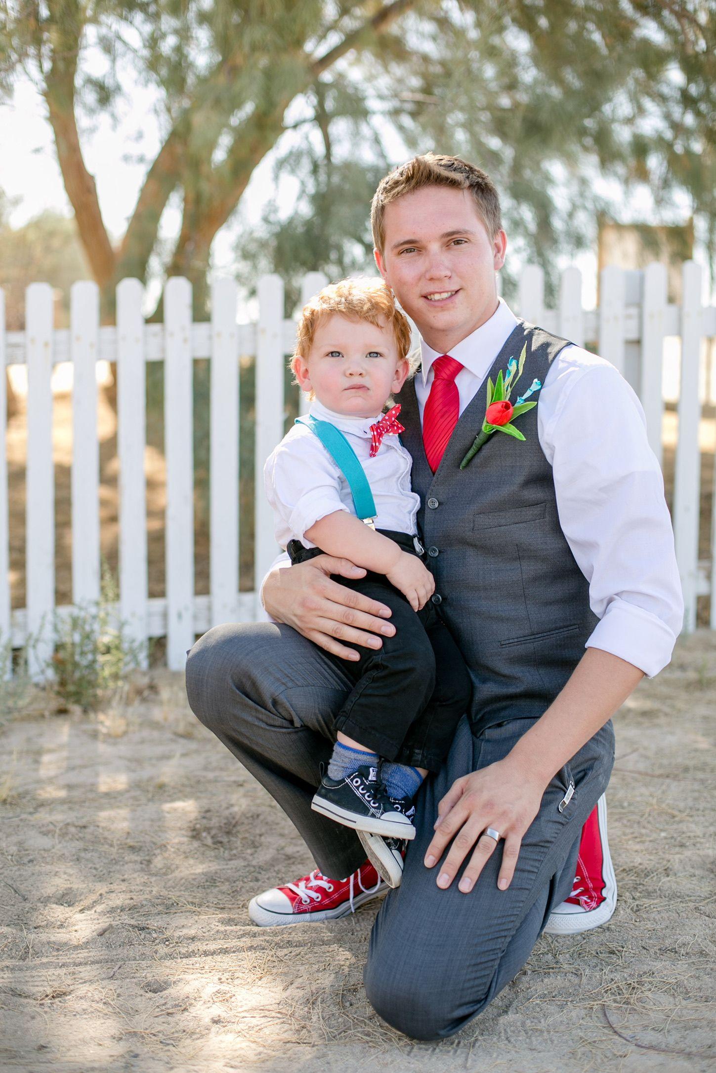 Groom and ring bearer converse wedding wedding