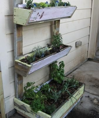 Diy Herb Garden This One Is With Old Playhouse Diy Herb Garden Herb Garden Small Backyard Landscaping