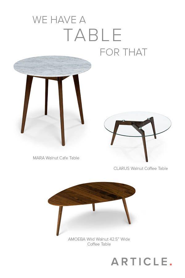 Mara Walnut Cafe Table Tables