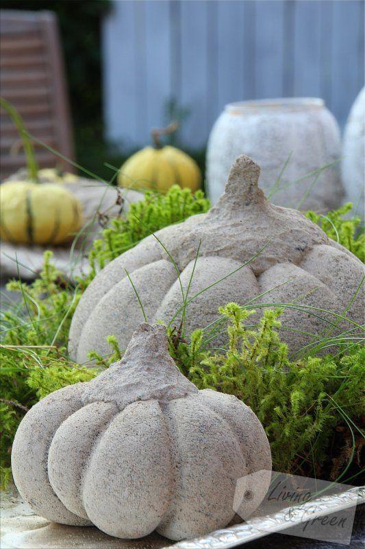 Beton Gießen Anleitung hello pumpkin beton kürbis diy kürbis aus beton anleitung