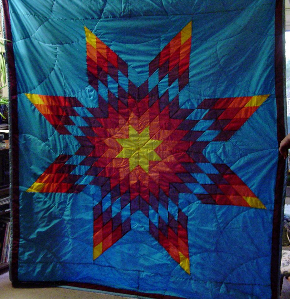 Lakota Star Quilt Charity Craft Quilting