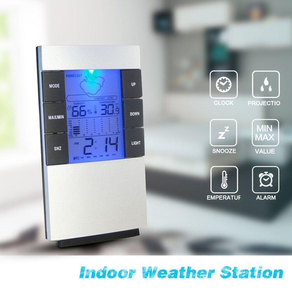 Reloj despertador Digital higrómetro termómetro
