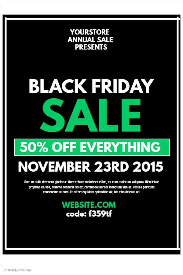 green black friday sale flyer template  click on the image