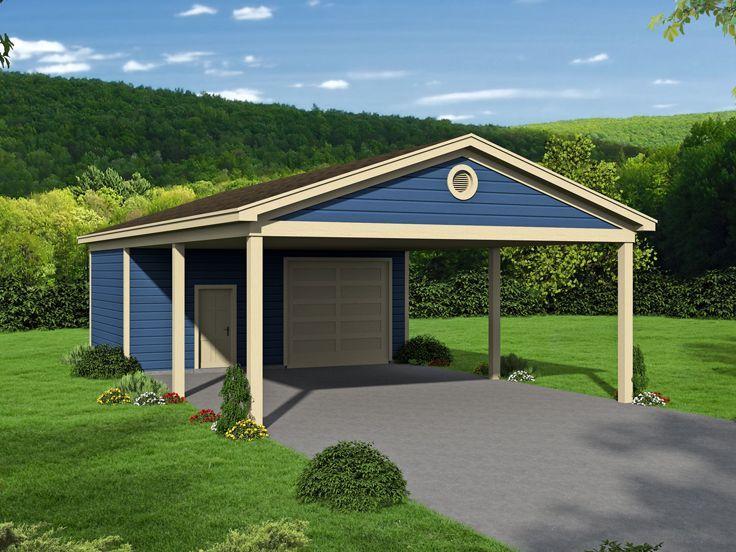 062G0189 TwoCar Carport Plan with or Garage