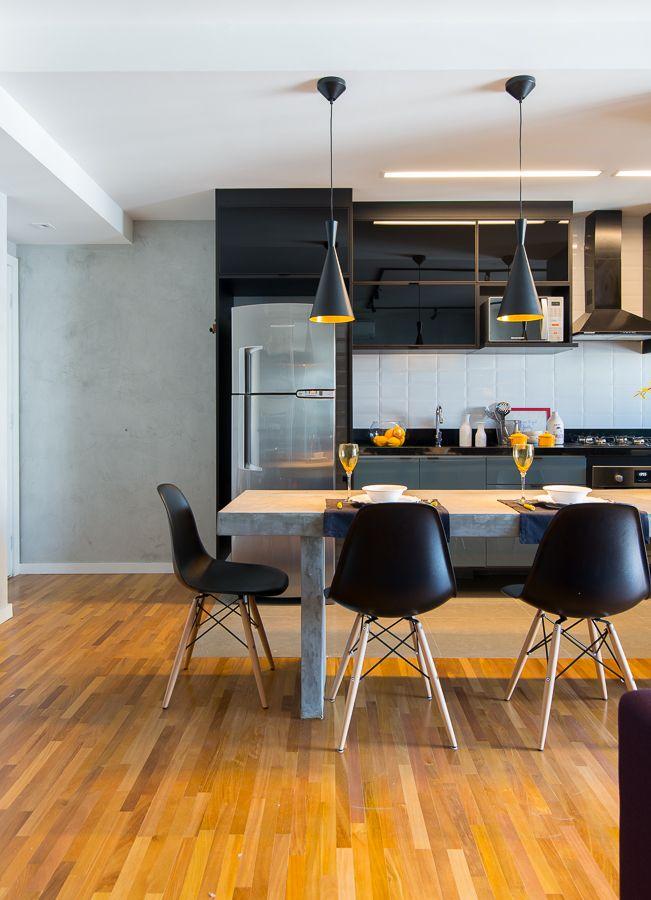 Preto Cimento Madeira Design De Cozinha Arquitetura E Decoracao Decoracao Cozinha