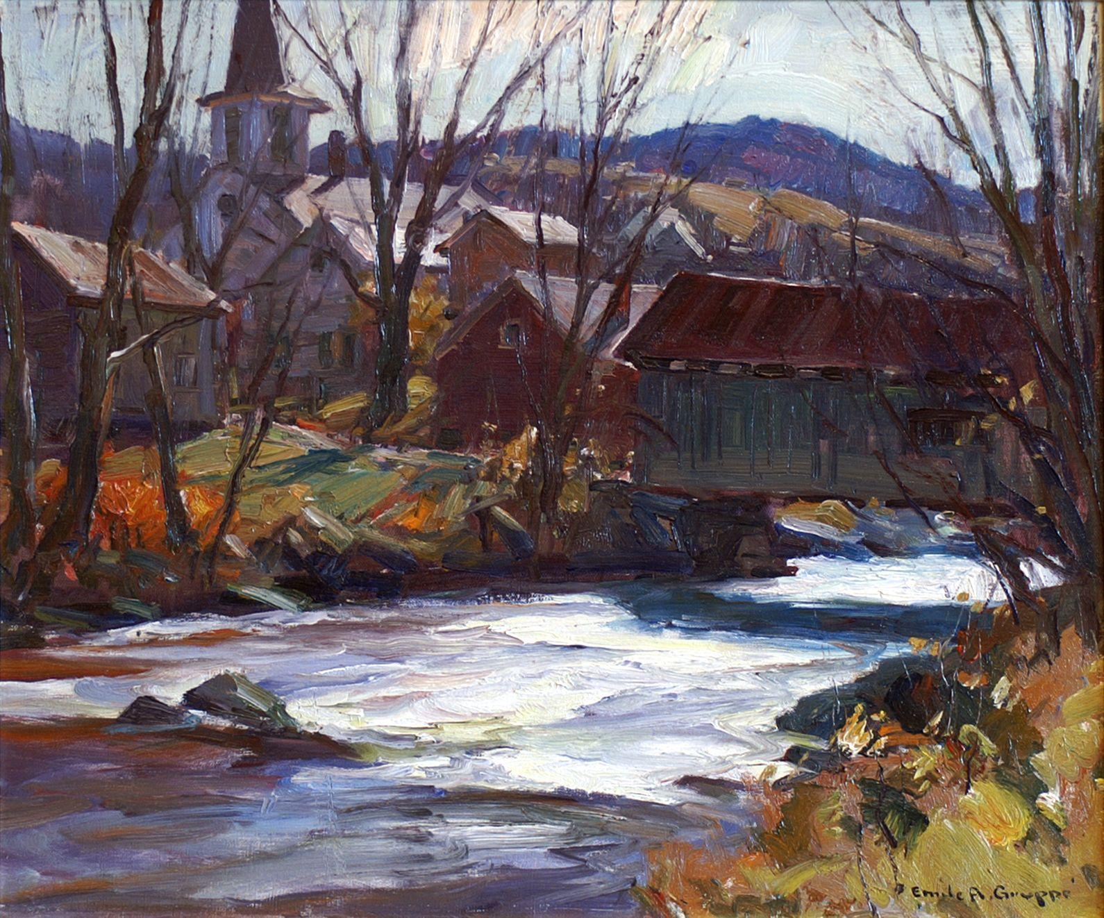 Emile Gruppe Trout Stream Waterville Vermont 1967