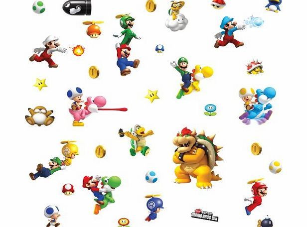 RoomMates Repositionable Childrens Wall Stickers Nintendo Super Mario Bros  Nintendo Wii No Description (Barcode EAN