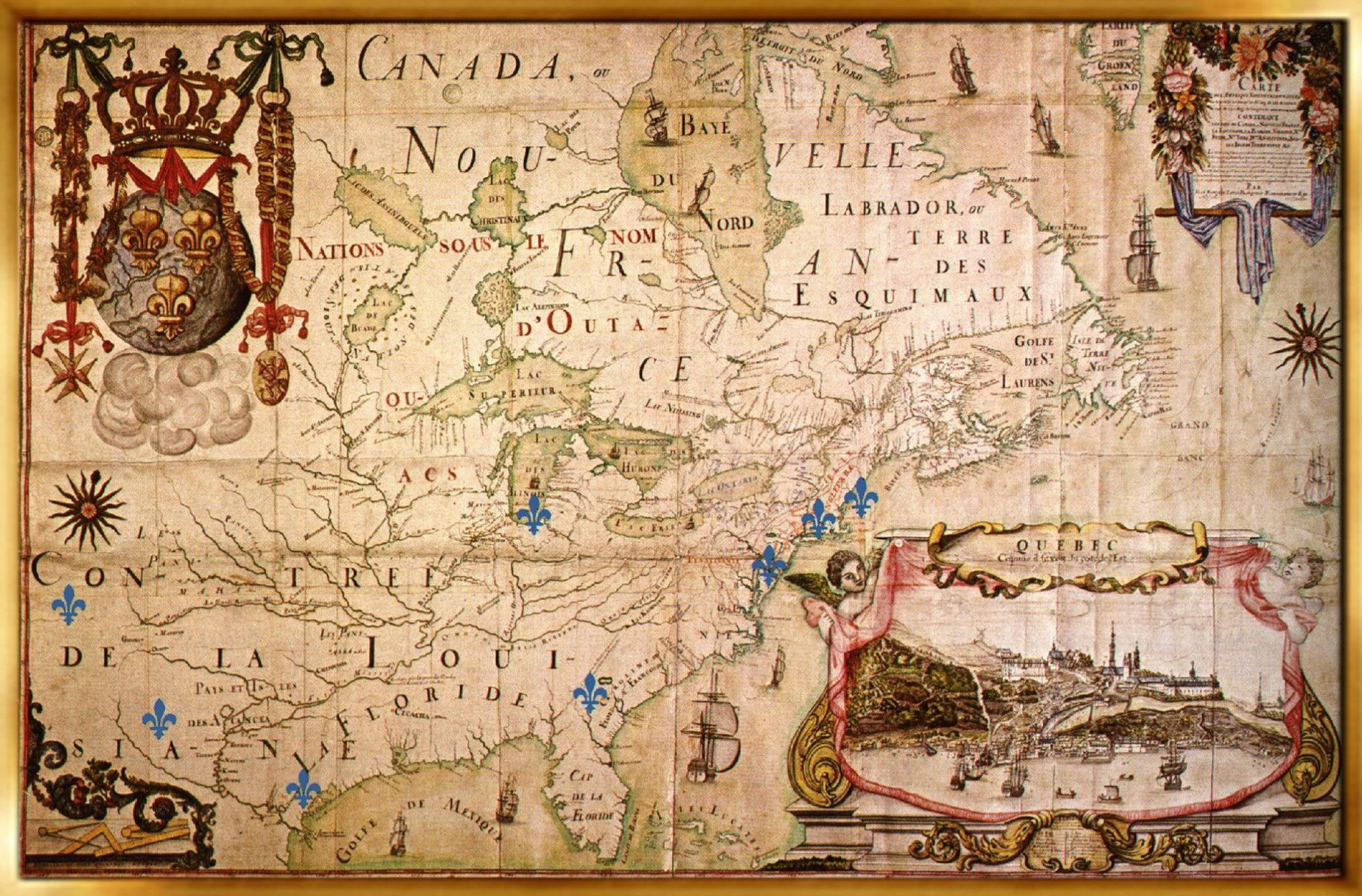 Old world map of new france 1663 maps pinterest mapas old world map of new france 1663 gumiabroncs Choice Image