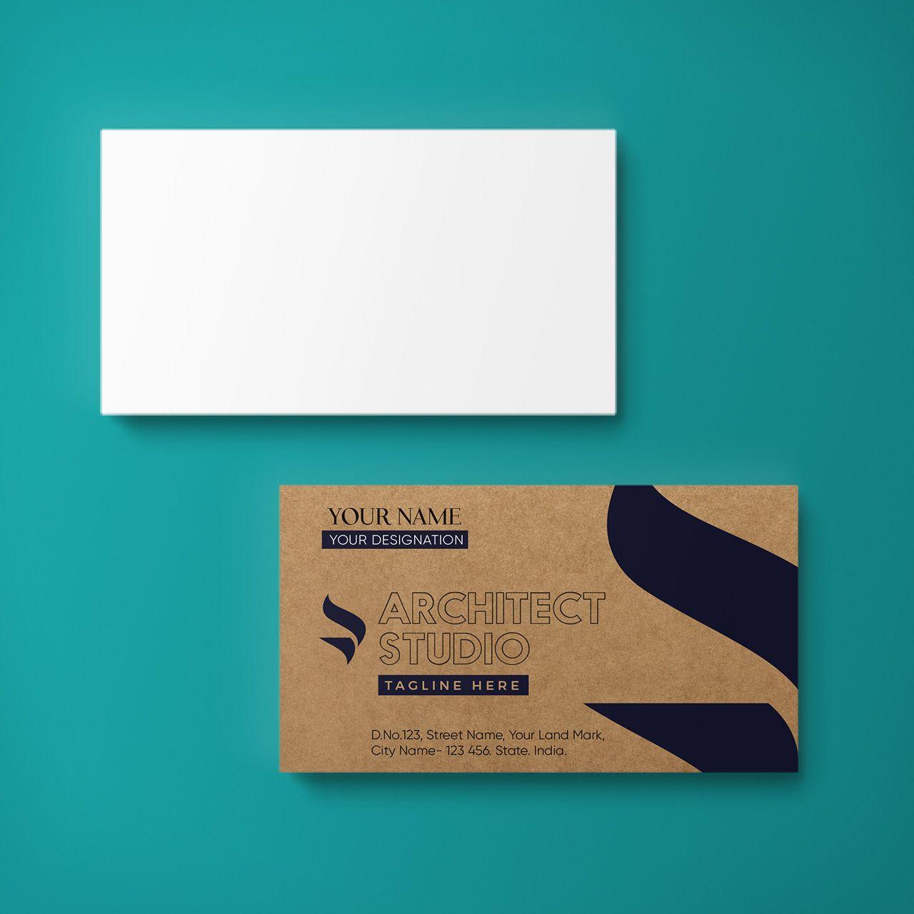 Kraft Business Cards Horizontal Single Sided Kraft Business Cards Cards Business Card Design