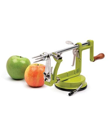 Take a look at this Stainless Steel Apple Slicer/Peeler by