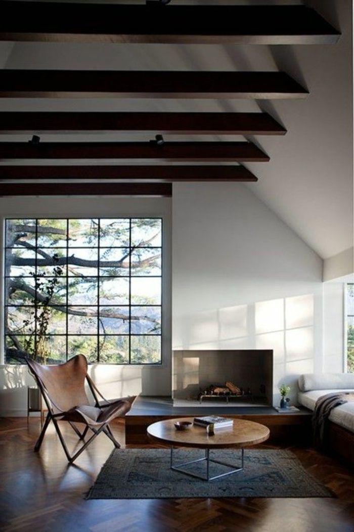 Wohnzimmer Streichen Ideen   Weiß Und Braun Kombinieren