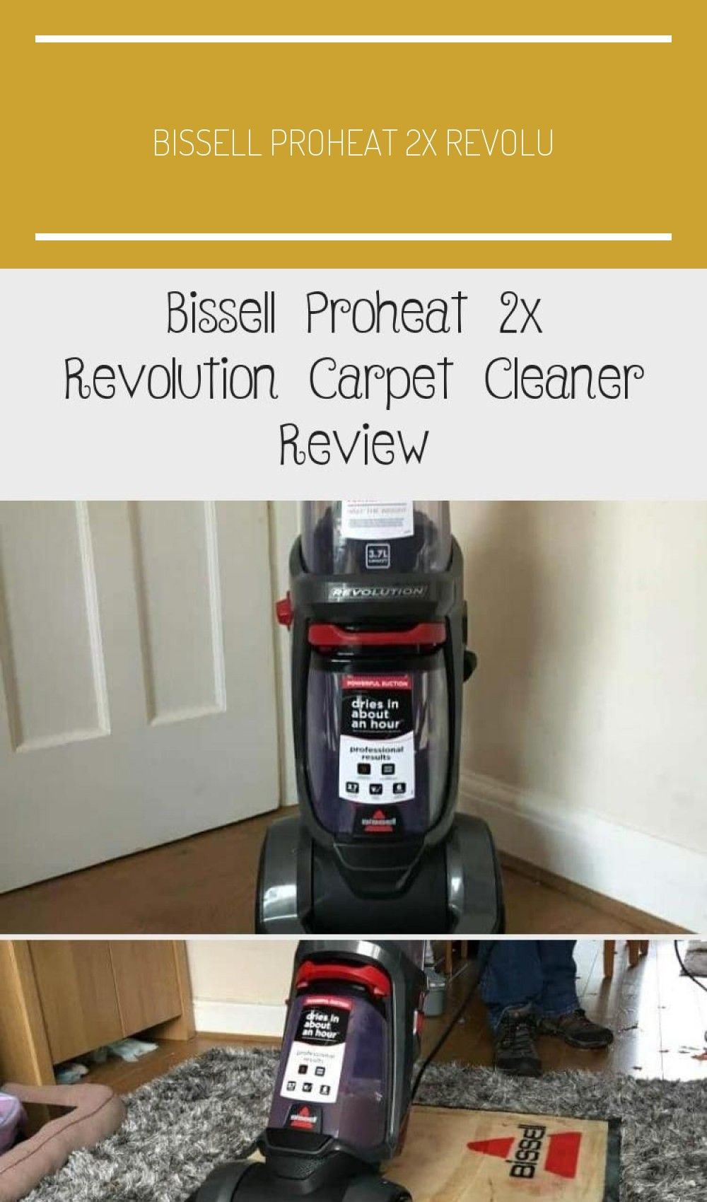 Bissell proheat 2x revolution carpet cleaner review