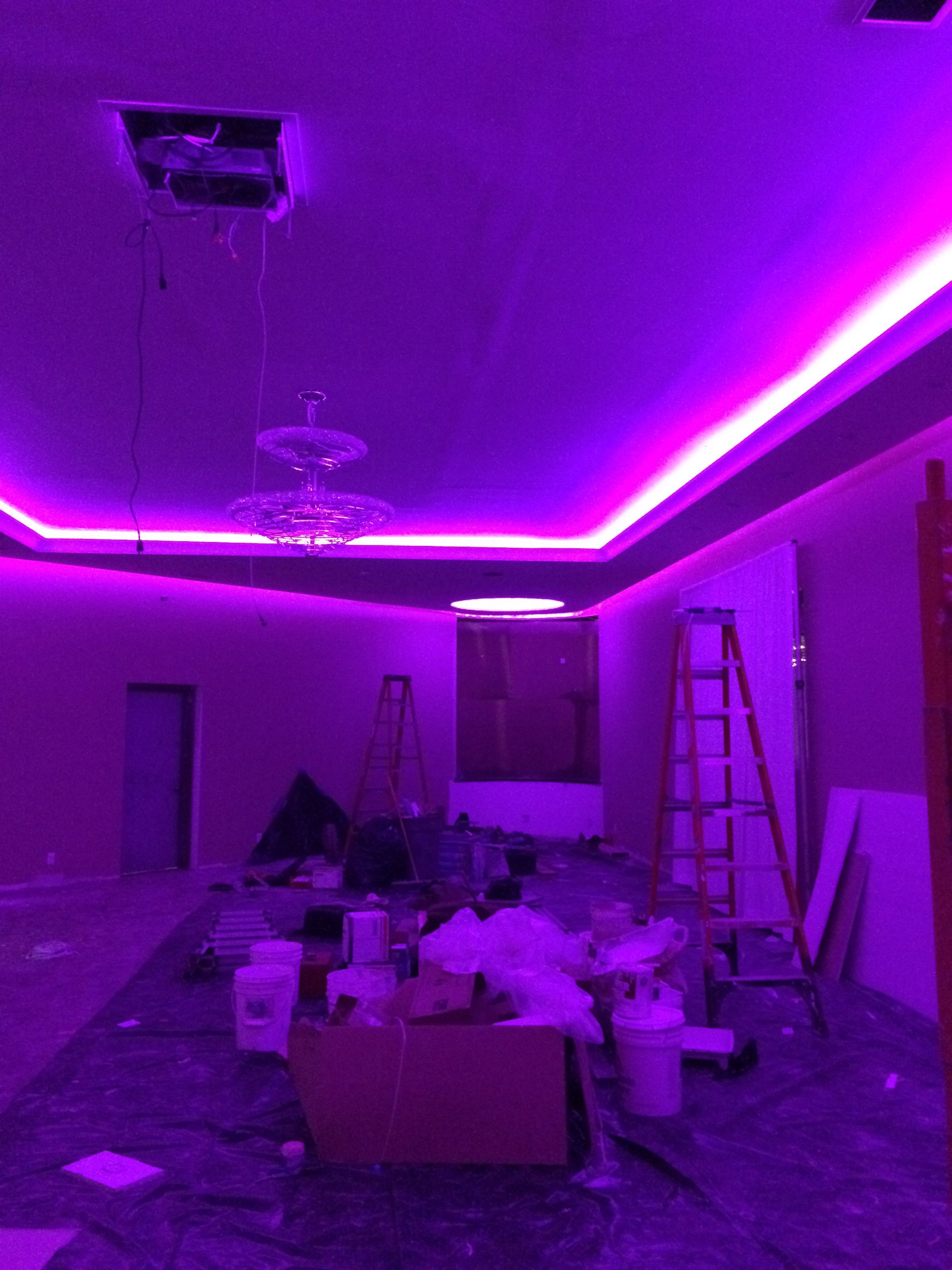 LED tape in soffet millions and millions of colors #LED