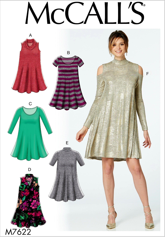 7eb8f38b8829 Sewing Pattern Loose Fit Flared Tunic Dress Pattern