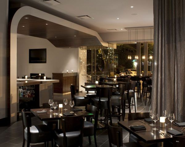small restaurant design photos | Color and Textures Defining the Modern Saratoga Creek House in ...
