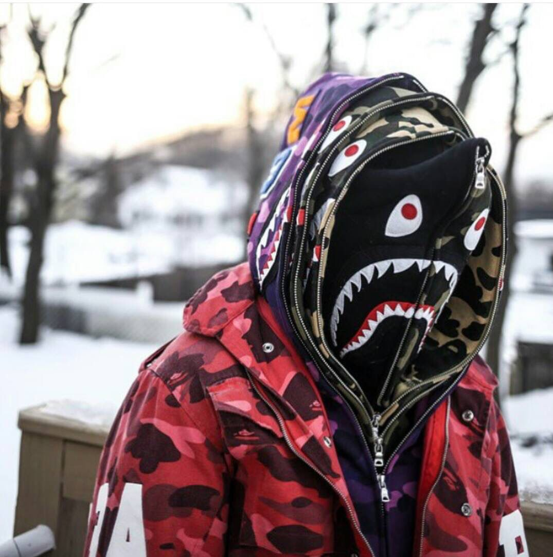 6605bf82 A Bape zip up hoodie, is a classic since it never goes out of fashion, and  has been around for so long, yet you don't see them everywhere.
